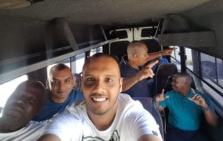 Corsair Staff in a bus